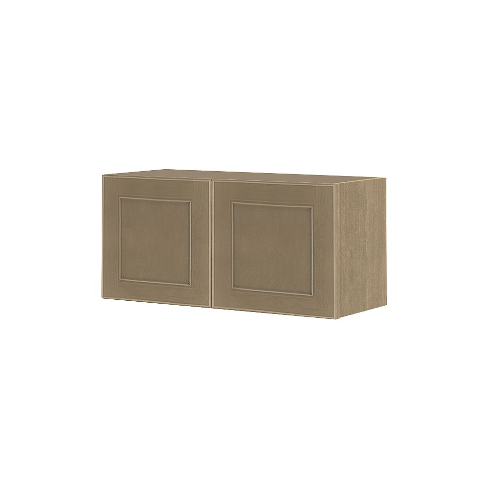 Thomasville NOUVEAU Rhodes Pebble Assembled Wall Cabinet 30 inches Wide x 13.5 inches High