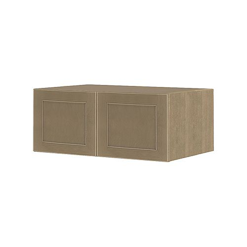 NOUVEAU Rhodes Pebble Assembled Wall Cabinet 36 inch Wide x 13.5 inch High 24 inch Deep