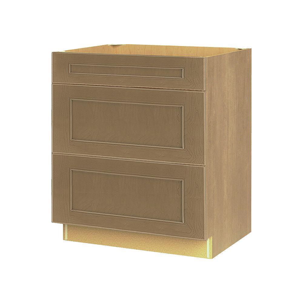 Thomasville Nouveau NOUVEAU Rhodes Wrangler Assembled Three Drawer Base Cabinet 30 inches Wide