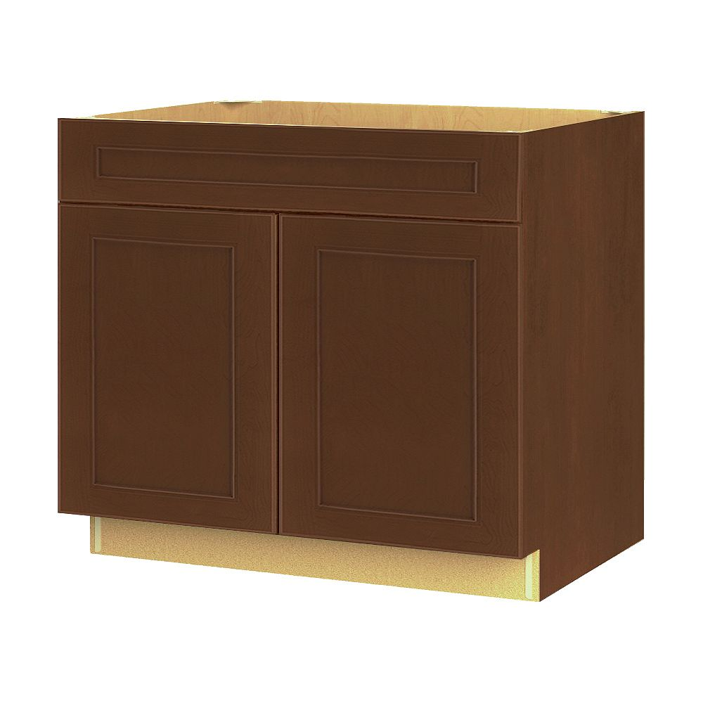 Thomasville NOUVEAU Rhodes Raisin Assembled Base Cabinet with Drawer 36 inches Wide