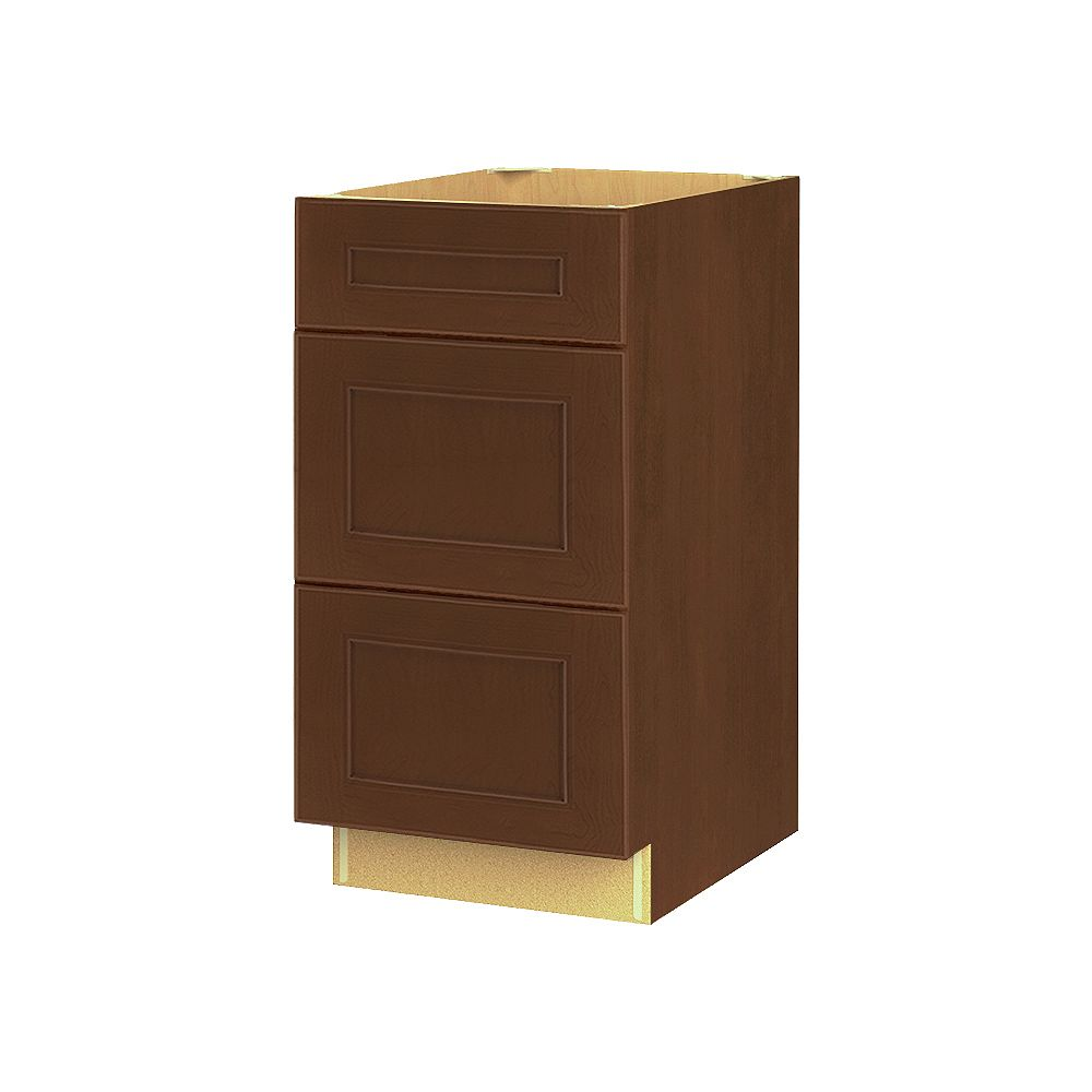Thomasville NOUVEAU Rhodes Raisin Assembled Three Drawer Base Cabinet 18 inches Wide