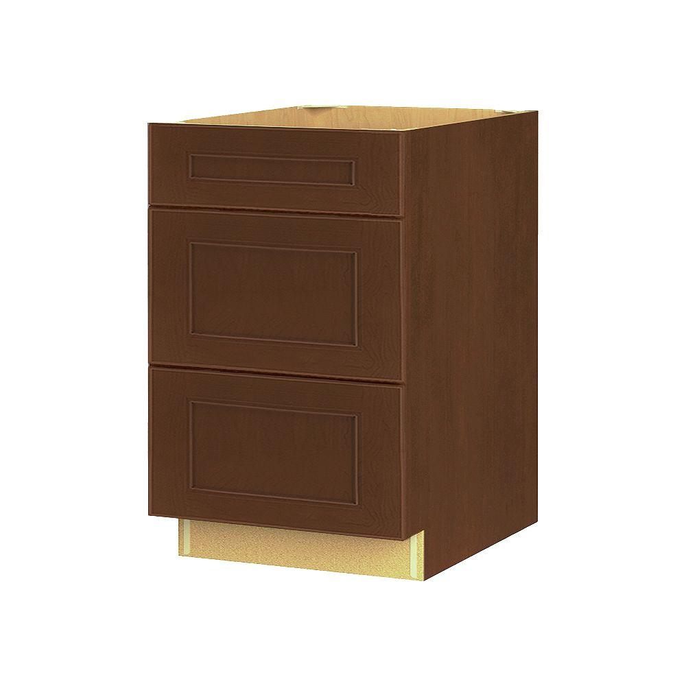 Thomasville NOUVEAU Rhodes Raisin Assembled Three Drawer Base Cabinet 24 inches Wide