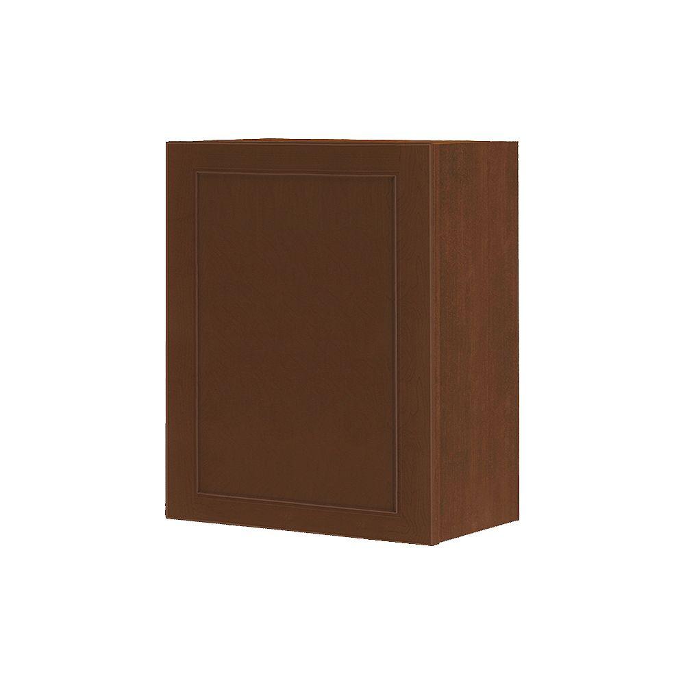 Thomasville Nouveau NOUVEAU Rhodes Raisin Assembled Wall Cabinet 24 inches Wide x 30 inches High