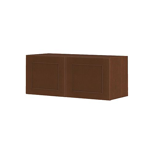 NOUVEAU Rhodes Raisin Assembled Wall Cabinet 36 inch Wide x 13.5 inch High