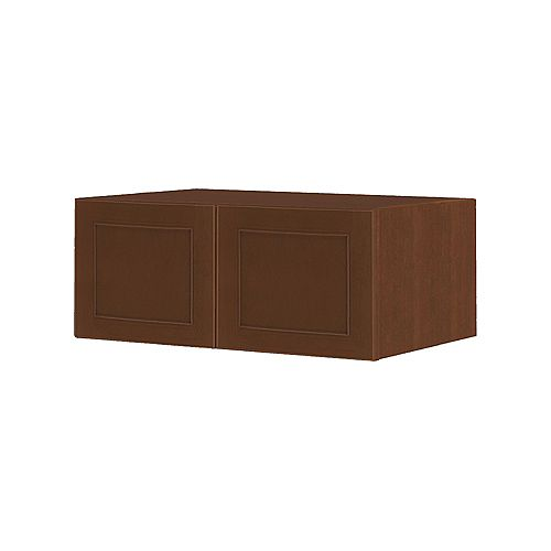 NOUVEAU Rhodes Raisin Assembled Wall Cabinet 36 inch Wide x 13.5 inch High 24 inch Deep