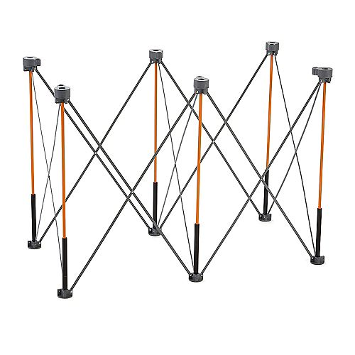 Centipede 36 inch x 24 inch x 48 inch Tall Work Support with 4 X-Cups, 2 Quick Clamps, Bag, CTC6