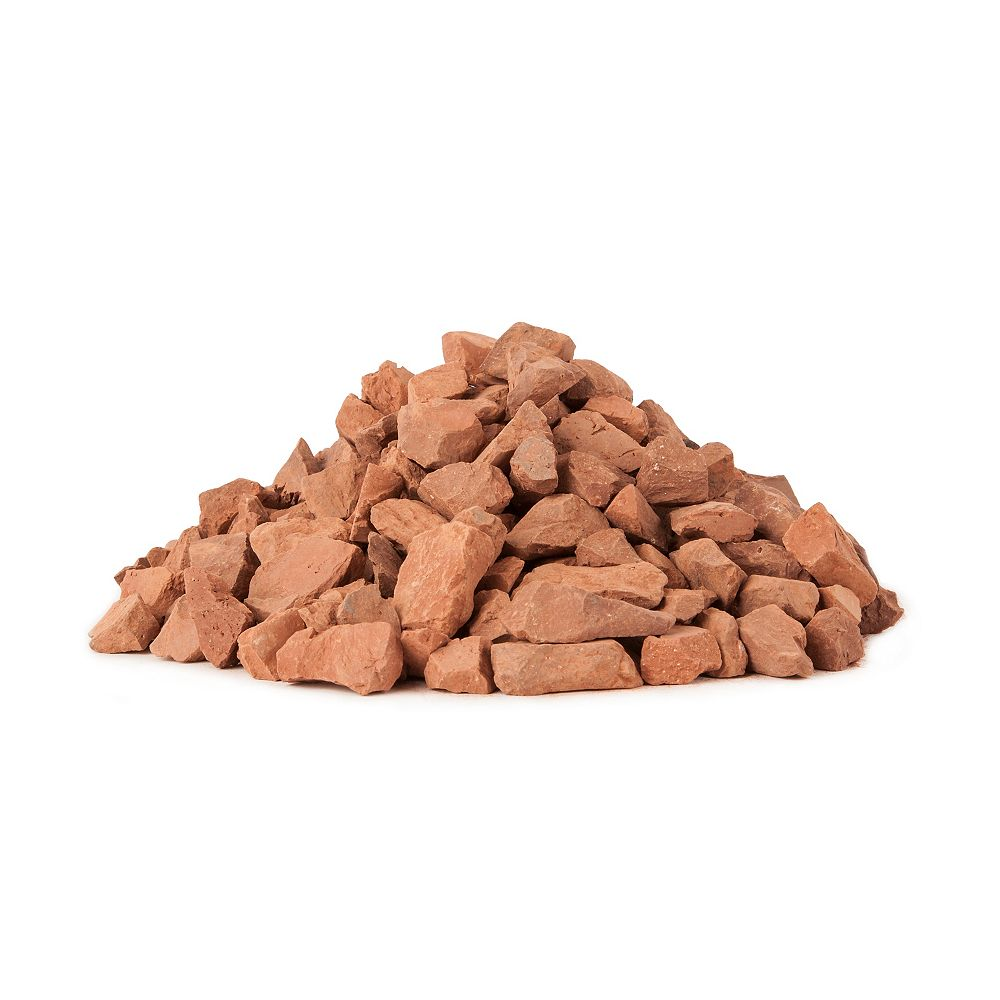 Shaw Resources Red Brick Chips Covers 6 Sq. ft.