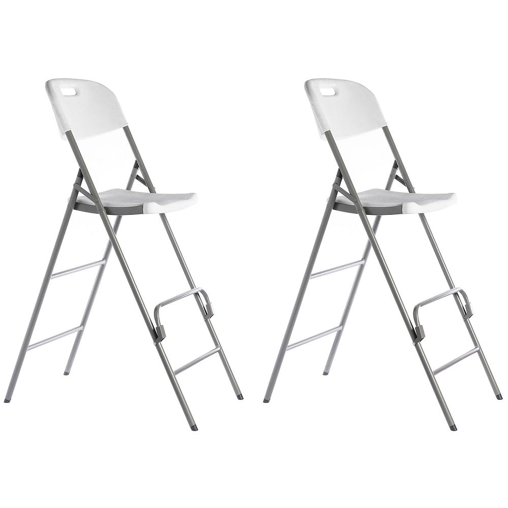 Gardenised Tall Triple Braced Garden Patio Folding Chair for Indoor and Outdoor Use