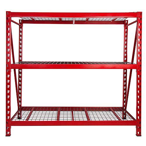 Red 3-Tier Steel Garage Rack Storage Shelving Unit (77 in. W x 72 in. H x 24 in. D)