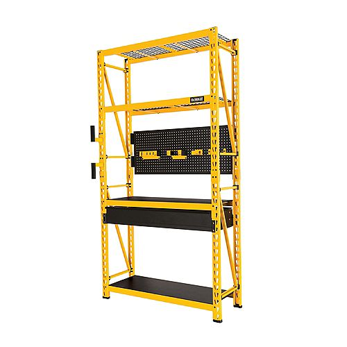 Dewalt 4-Tier Steel Garage Storage Rack Shelving Unit Workbench (50 in. W x 94 in. H x 18 in. D)