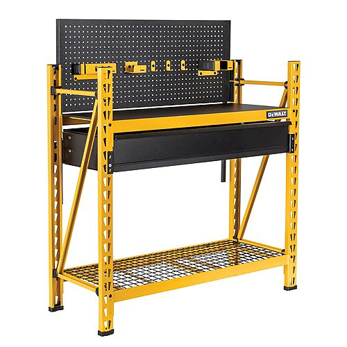 2-Tier Steel Garage Storage Rack Shelving Unit Workbench (50 in. W x 56 in. H x 18 in. D)