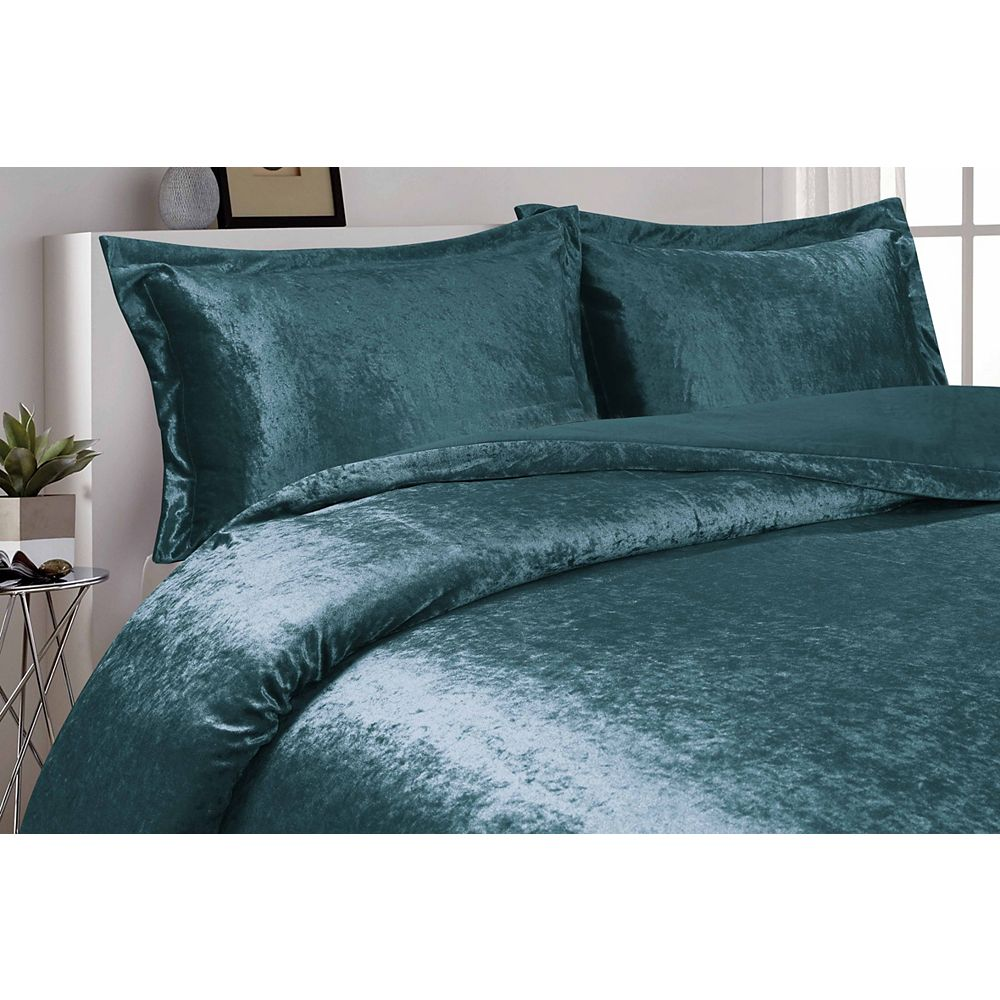 CHC Velvet Duvet Cover Set TEAL DQ