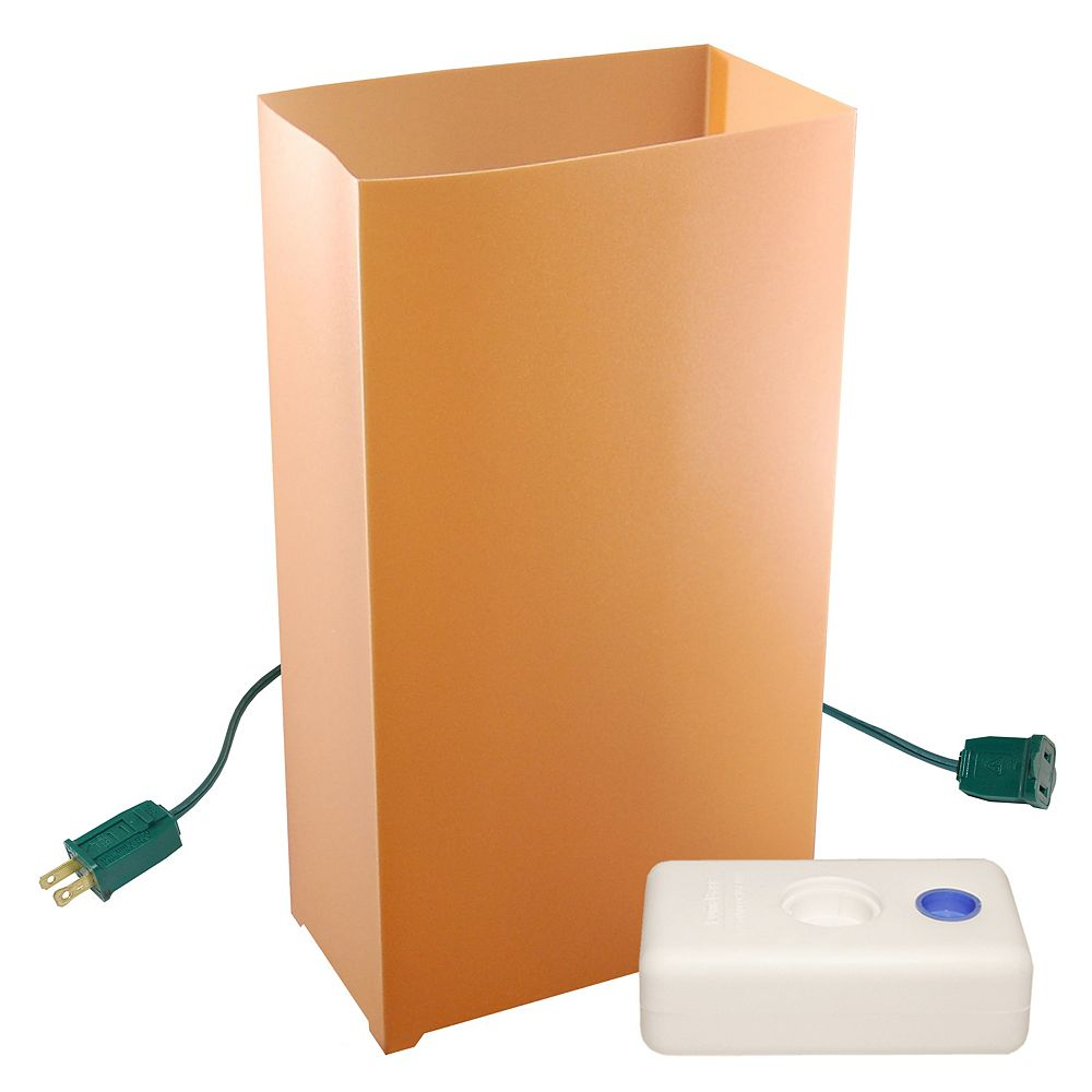 LumaBase Electric Luminaria Kit with LumaBases- Tan (10 count)