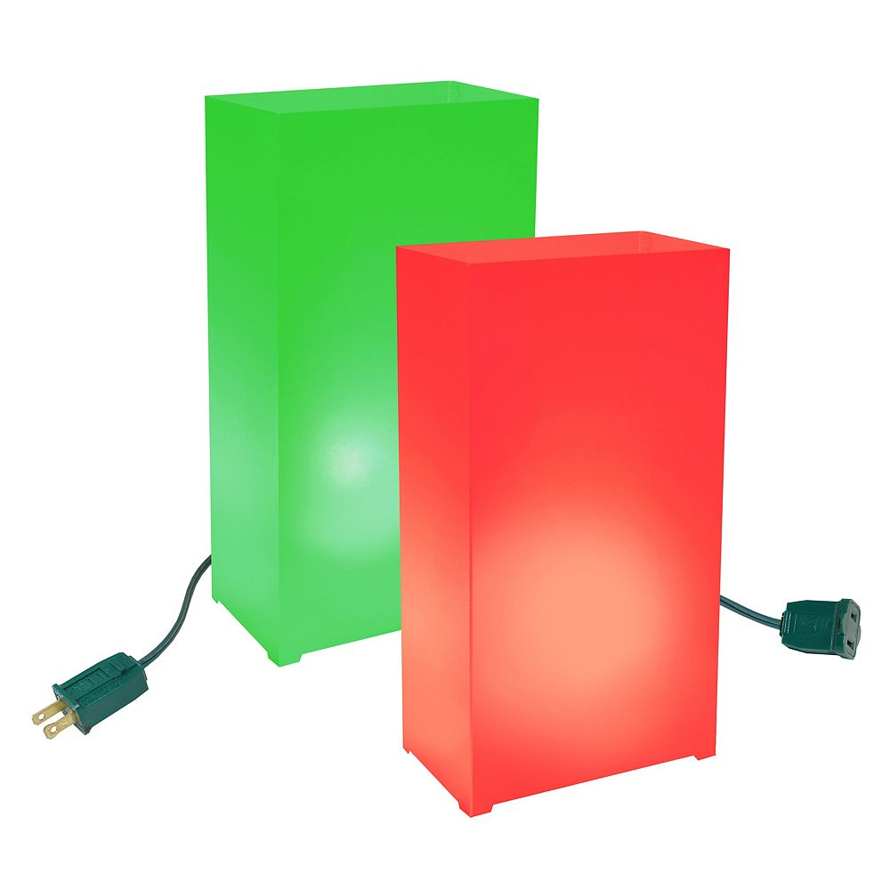 LumaBase Electric Luminaria Kit- Red and Green (10 count)