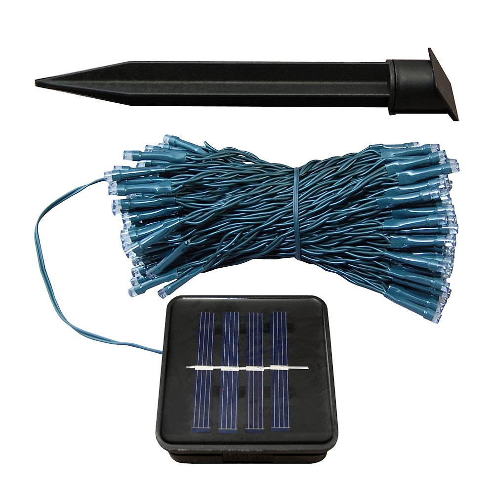 LumaBase Solar Powered Mini String Lights with 100 Cool White Lights