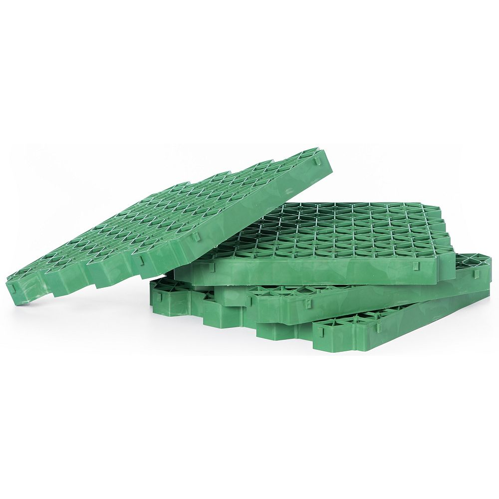 Gardenised Set of 4 Permeable Grass and Gravel Pavers For Parking Lots, Driveways and RV Pads