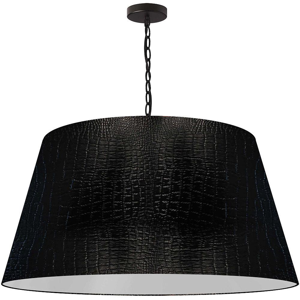 Dainolite 1 Light Extra Large Pendant, Black Shade, Black. 32 Inches 770