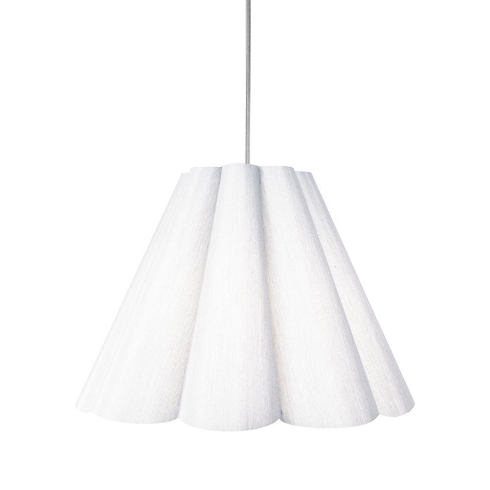 Dainolite 4 Light Pendant White, Medium Polished Chrome. 33 Inches 2400