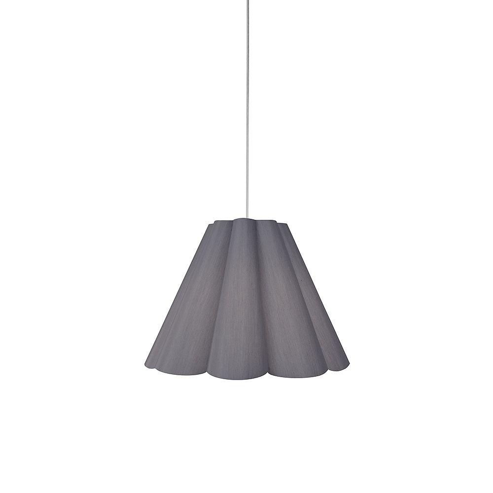 Dainolite 4 Light Pendant Grey, Small Polished Chrome. 19 Inches 835