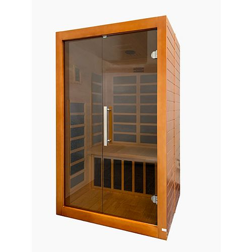 2-Person Infrared Sauna with 7 Carbon Film Heating Panels