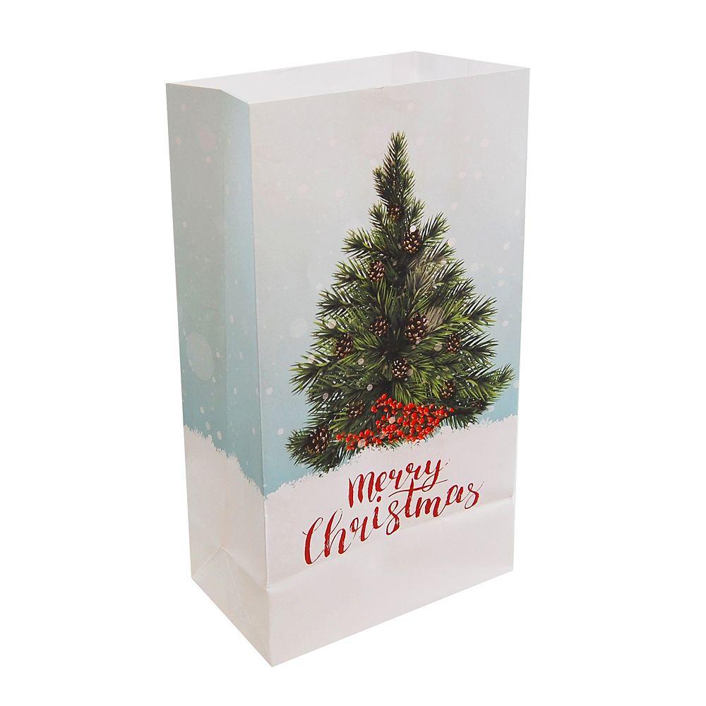 LumaBase Paper Luminaria Bags - Christmas Tree (24 count)