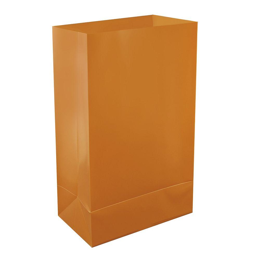LumaBase Plastic Luminaria Bags- Tan (12 count)