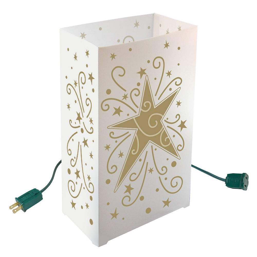 Duralife Electric Luminaria Kit- Gold Star (10 count)