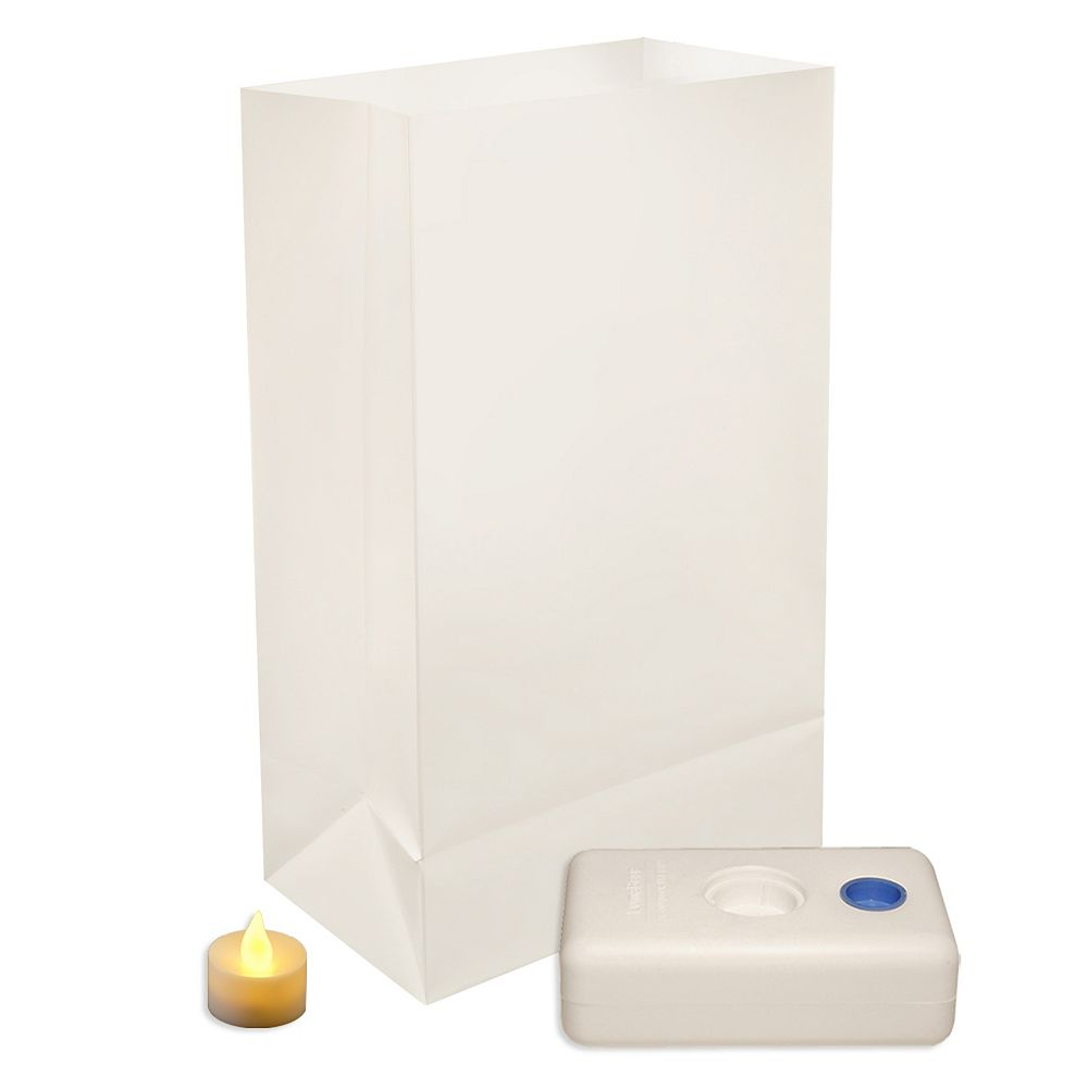 Duralife Battery Operated LED Luminaria Kit- White (12 count)