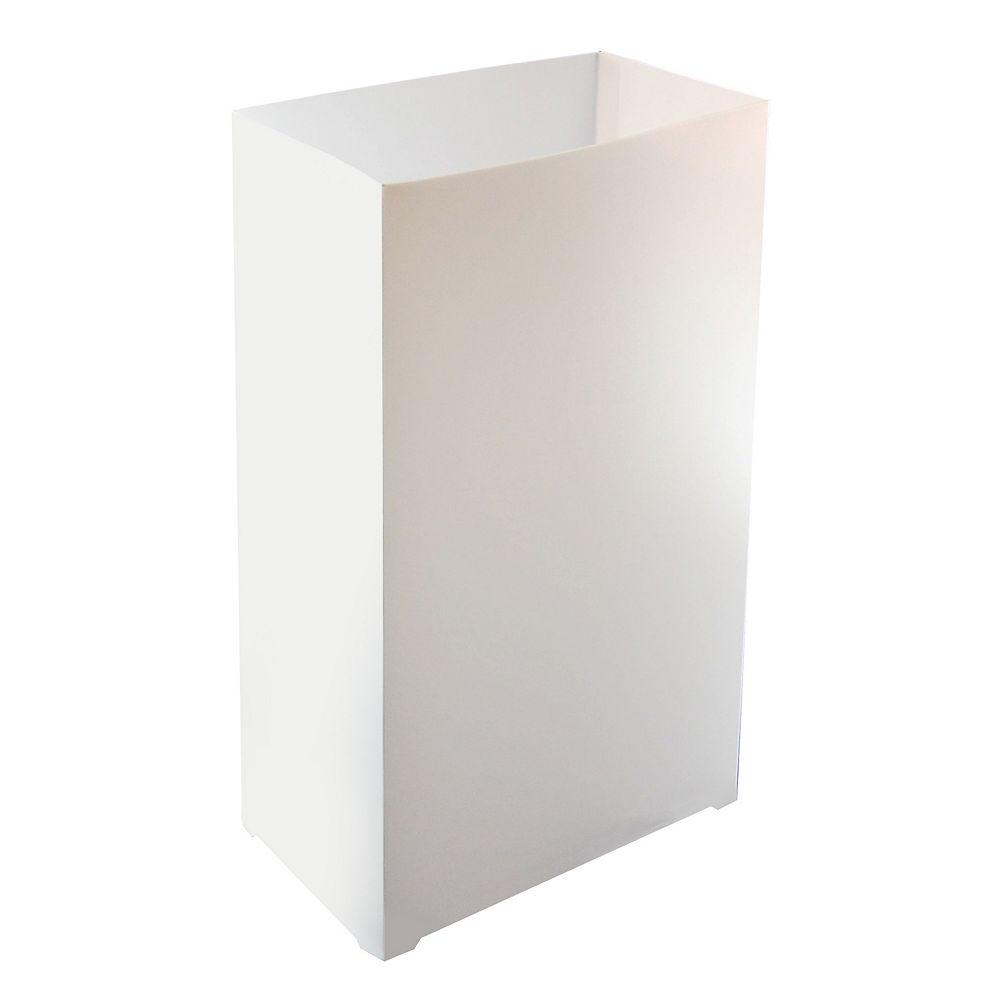 CC Home Furnishings Plastic Luminaria Lanterns- White (100 count)