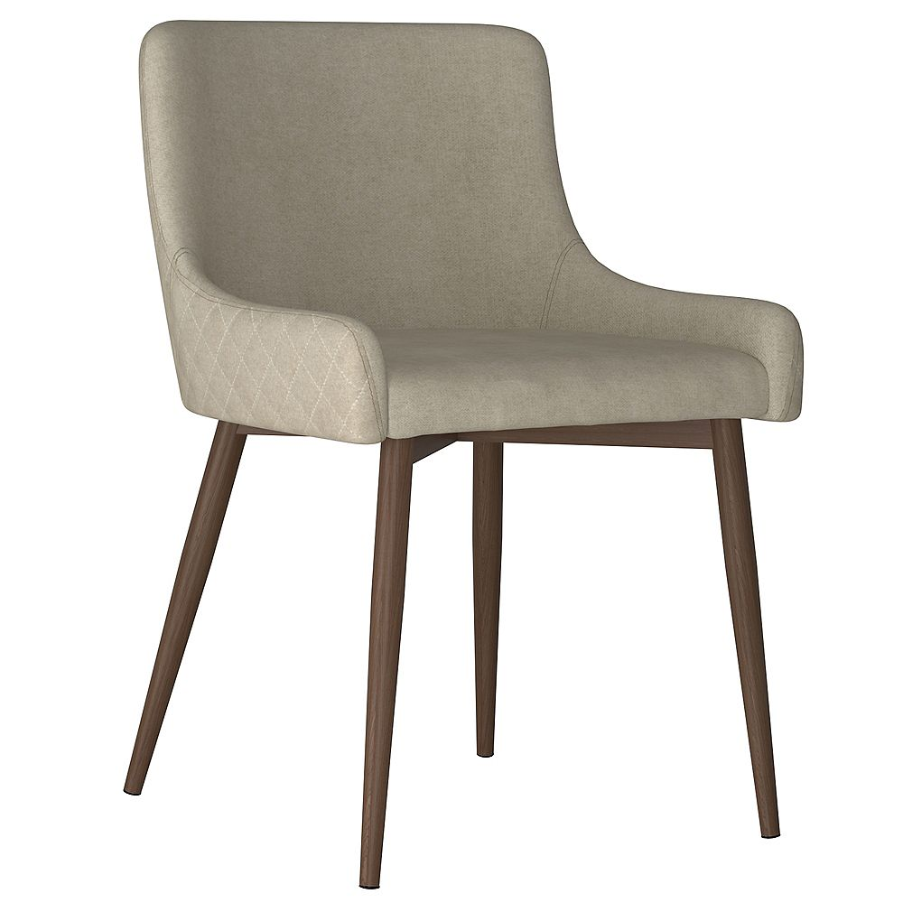 !nspire Set of 2 Mid Century Upholstered Side Chairs