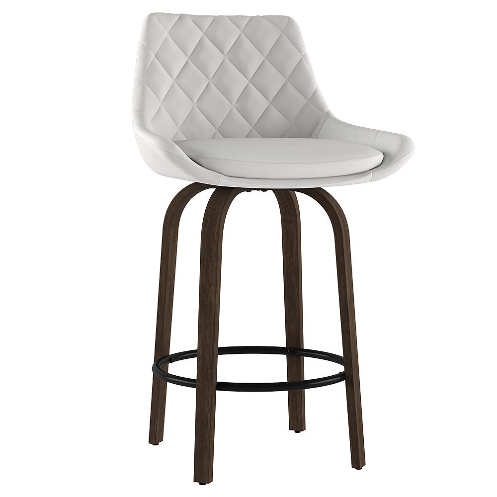 """!nspire Set of 2 Modern Faux Leather 26"""" Counter Stool"""