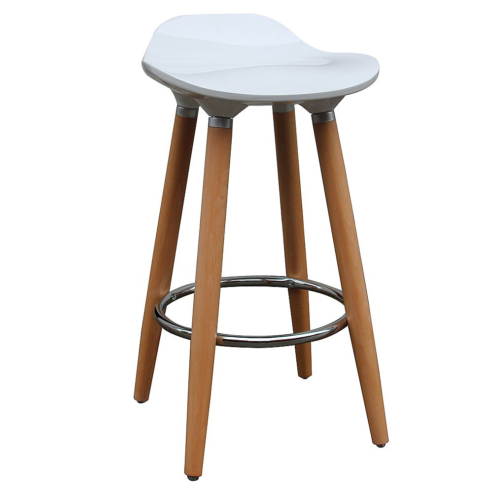 """!nspire Set of 2 Mid Century Backless 26"""" Counter Stool"""