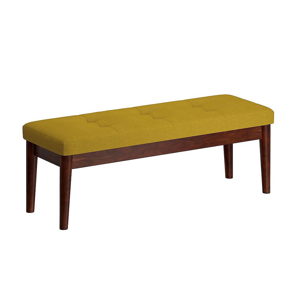 WHI Mid Century Upholstered Bench