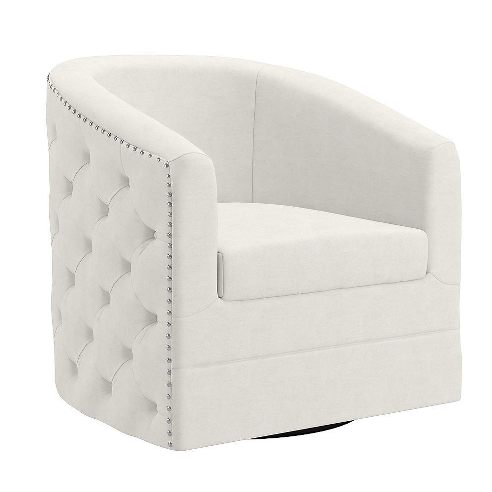 !nspire Tufted Velvet Swivel Accent Chair