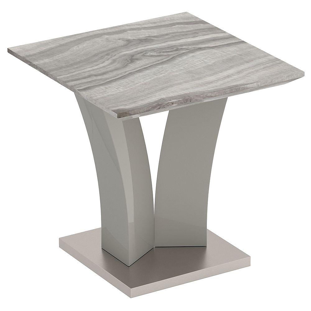 !nspire Contemporary Faux Marble Accent Table