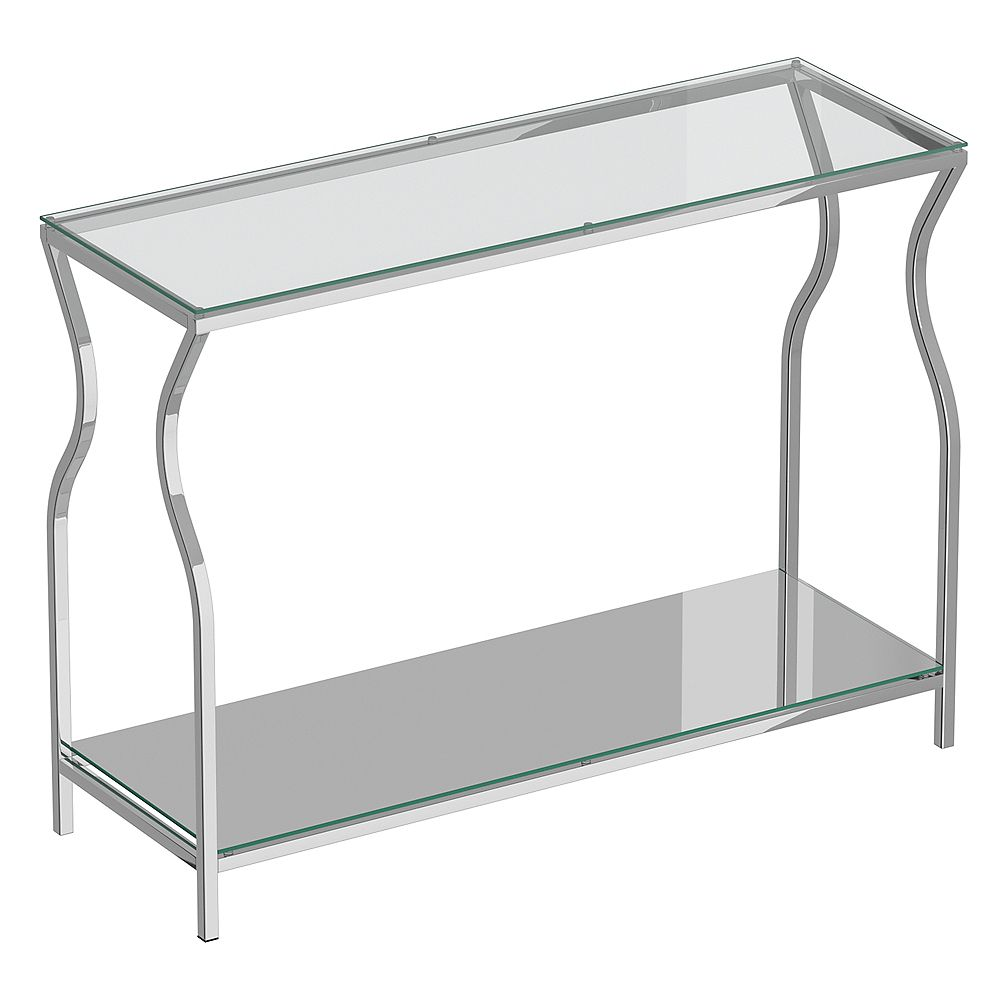 !nspire Contemporary 2 Tier Glass, Mirror and Metal Console Table