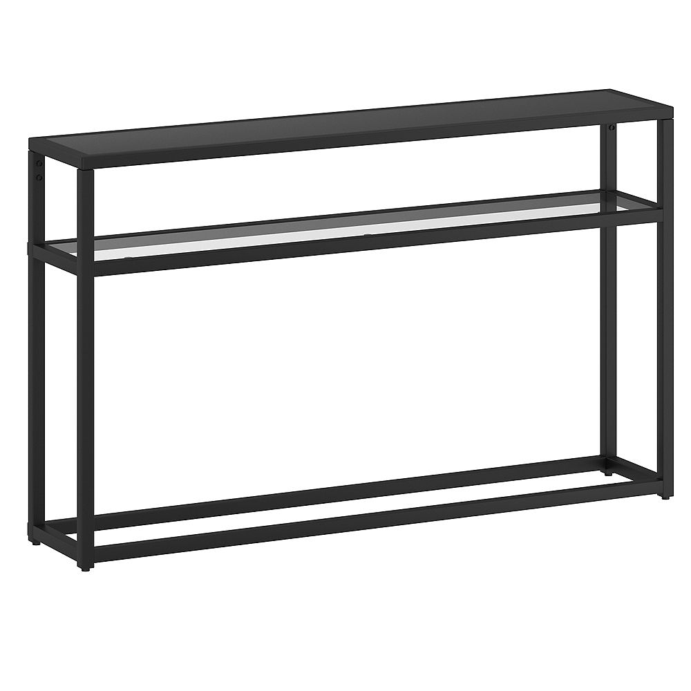 !nspire Contemporary 2 Tier Glass and Metal Console Table