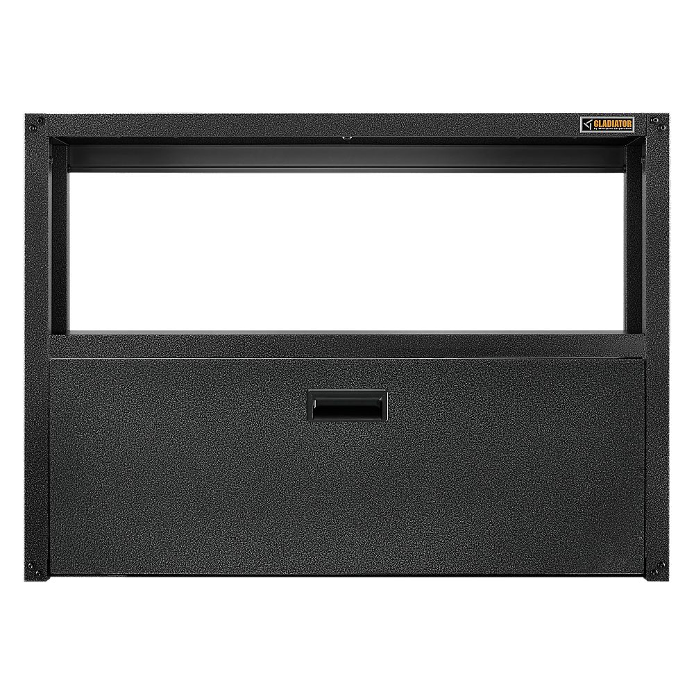 Gladiator Ready to Assemble 42-inch W x 30.5-inch H x 10-inch D Foldaway Work Station in Granite