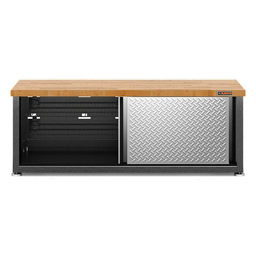 Ready to Assemble 54-inch W x 20-inch H x 18-inch D Storage Shoe Bench in Granite
