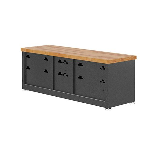 Ready to Assemble 54-inch W x 20-inch H x 18-inch D Storage Shoe Bench in Gray Slate