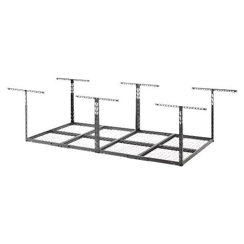 GearLoft - Rack de rangement de garage en granit martelé, 48 pouces de large x 23 pouces x 37 pouces de haut x 96 pouces de large