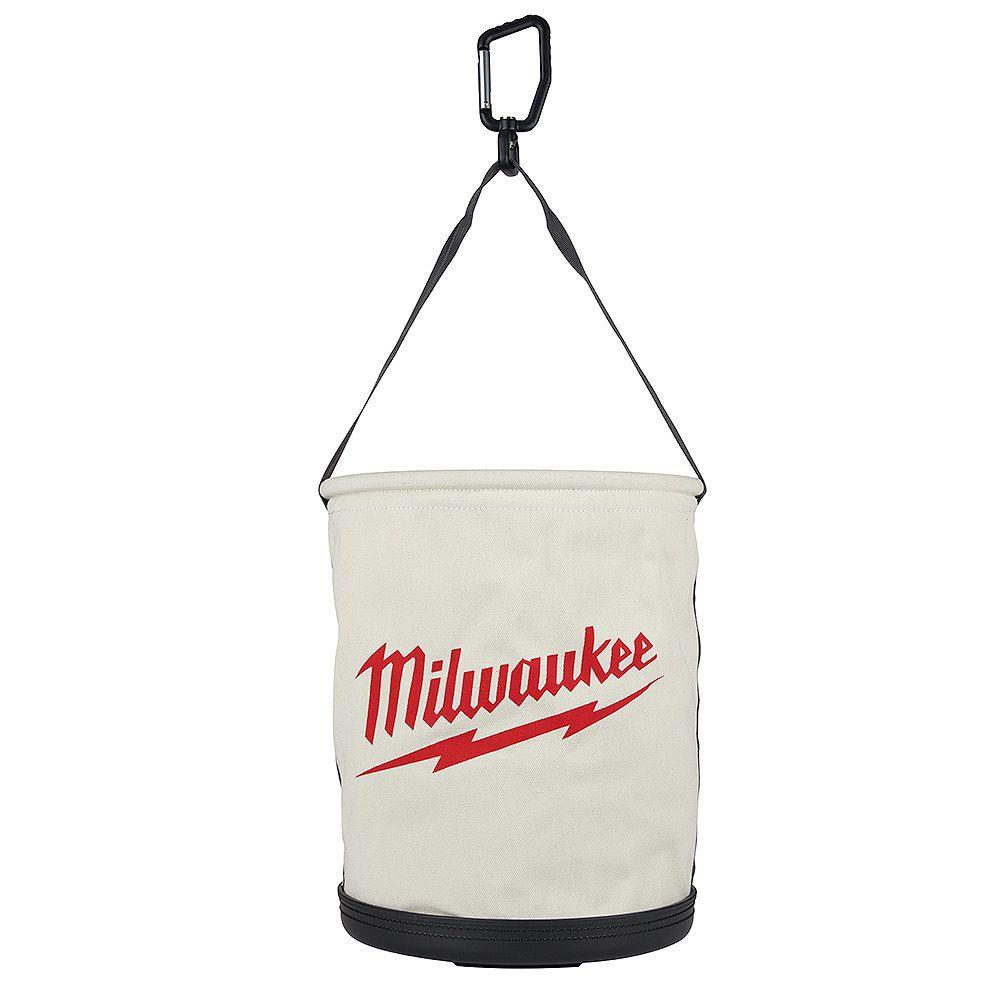Milwaukee Tool 12 -inch Canvas Utility Bucket Tool Bag