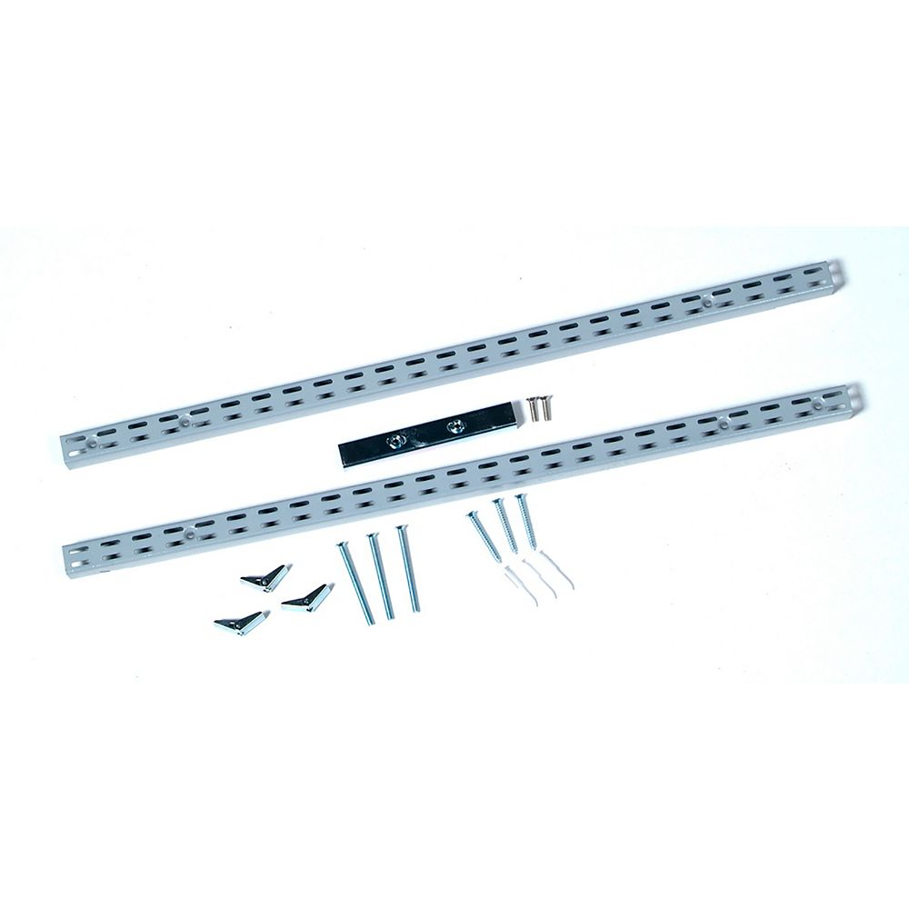 Triton 63 inches L Gray Epoxy Coated Steel Vertical Hang Rail & Mounting Hardware
