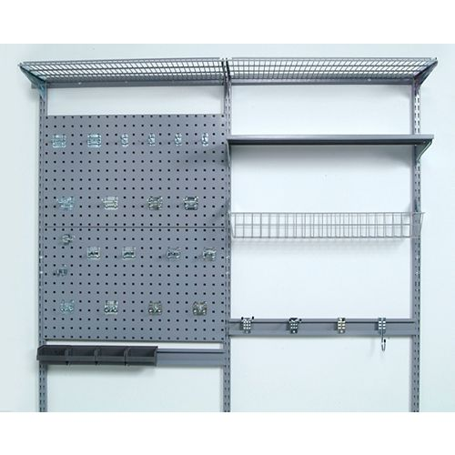 66 inches L x 63 inches H LocBoard Wall Mount Storage System