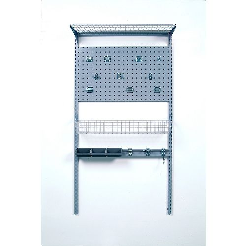 33 inches L x 63 inches H LocBoard Wall Mount Storage System