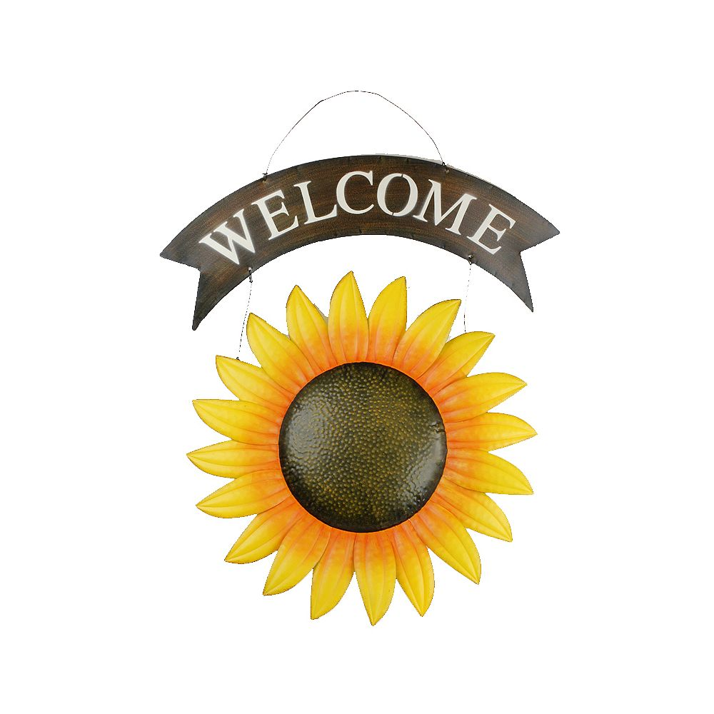 Koppers Home Sunflower Welcome Sign