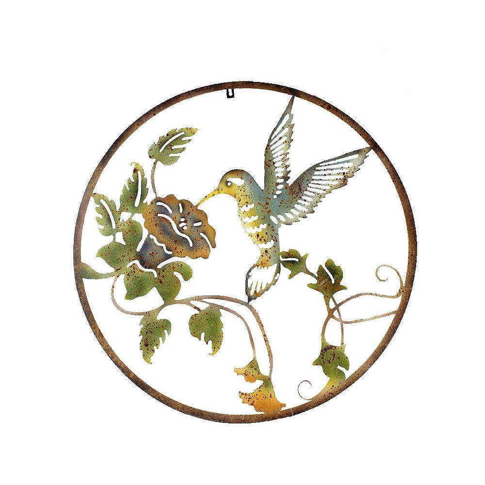 Koppers Home Hummingbird Circle Wall Decor