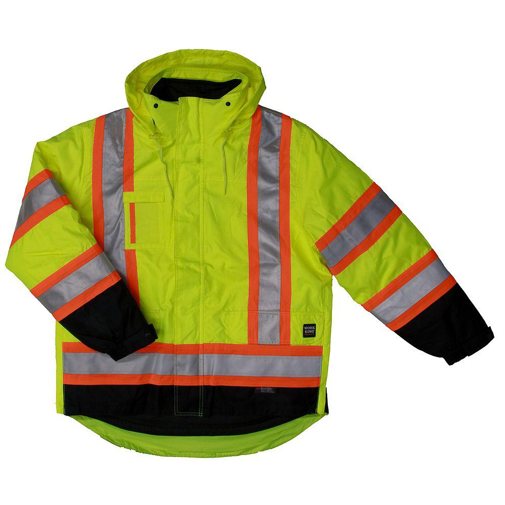 Work King 5 In1 Safety Jacket Flgr 4XL