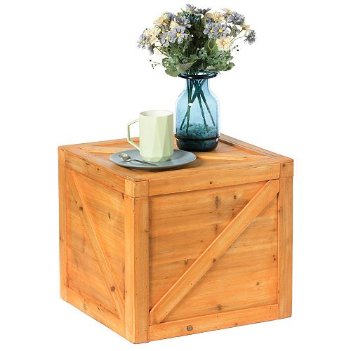 Square Decorative Wooden Chest Trunk - Large