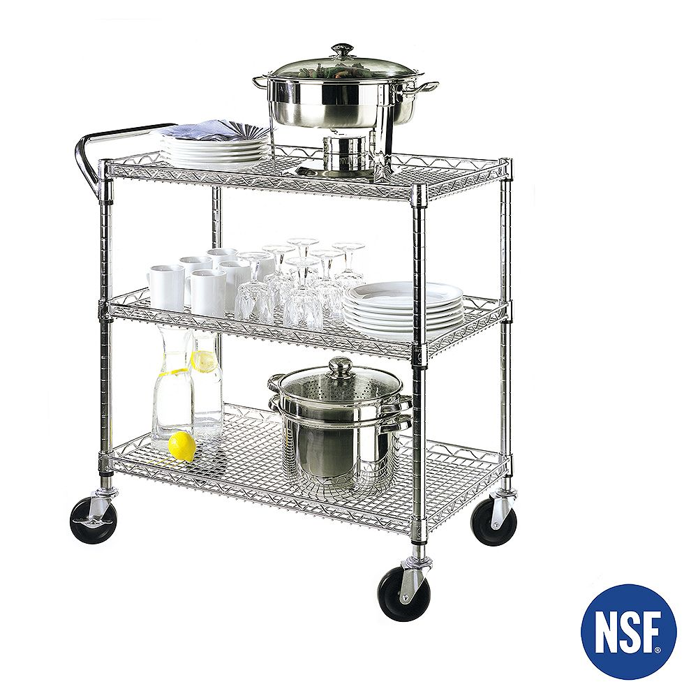 Vancouver Classics 3-Tier Commercial Nsf Utility Cart